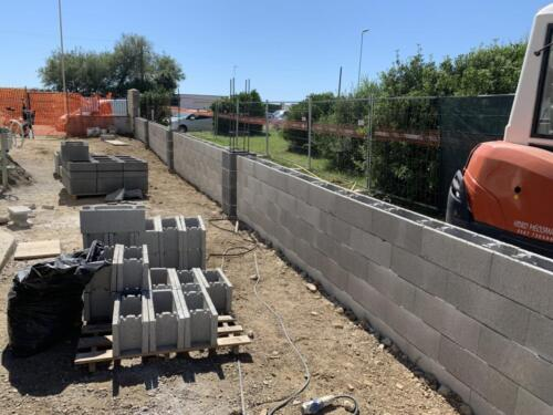 Muro blocco cassero